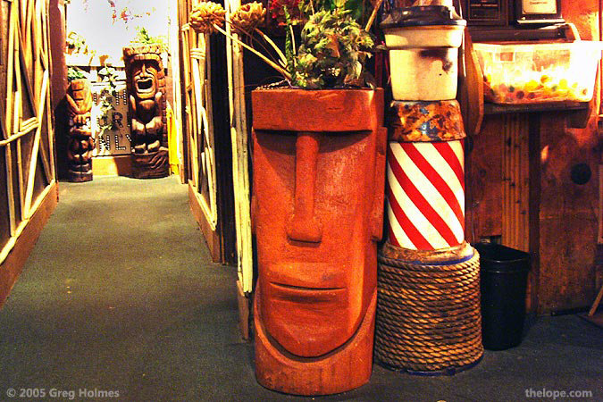 Moai Are A Natural As Tiki Restaurant And Bar Decor In