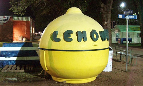 Ace liked his lemonade shaken not stirred and his new for Lemon shaped lemonade stand