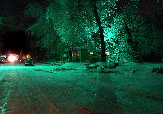 Crossroads Joplin Mo >> Where power still existed, trees were backlit by streetlights.
