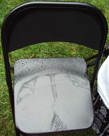 You Could Tell When Someone Had Been In A Chair In The Rain