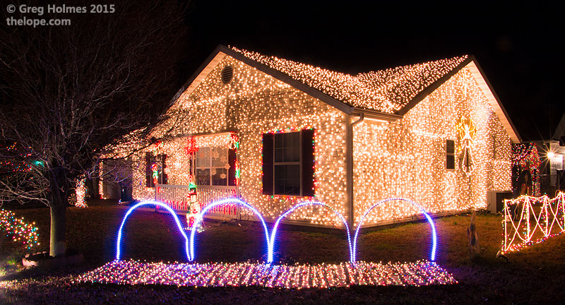 1790 webbwood drive has a locally well known computerized light and music display - Computerized Christmas Lights